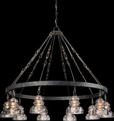 Troy Lighting Menlo Park 10 Light Chandelier, Old Silver Wagon Wheel Chandelier, Chandelier Shades, Chandelier Lighting, Foyer Chandelier, Transitional Pendant Lighting, Troy Lighting, Lighting Ideas, Outdoor Lighting, Lighting Design