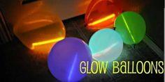 Glow balloons glow sticks in balloons