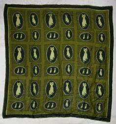 Vera Neumann cat-print scarf