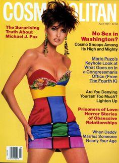 Linda Evangelista for Cosmopolitan Magazine APR 1991 Fashion Magazine Cover, Fashion Cover, Magazine Covers, Women's Fashion, Fashion History, Vintage Fashion, Linda Evangelista, Gianni Versace, Helen Gurley Brown