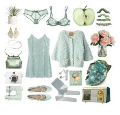 """""""Shine on you crazy chrysocolla!.."""" by entipuf ❤ liked on Polyvore featuring Allstate Floral, Mimi Berry, Annette Ferdinandsen, Iliann Loeb, Lomography and John Lewis"""
