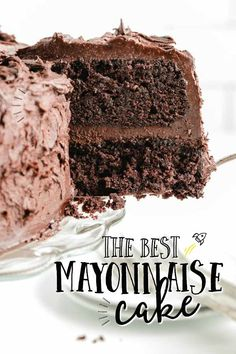 A piece of chocolate cake Cake Mix Recipes, Cheesecake Recipes, Toffee Cheesecake, Food Cakes, Cupcake Cakes, Cupcakes, Salted Caramel Macaroons, Chocolate Mayonnaise Cake, Chocolate Cake