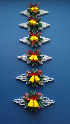 Set von 6 quilling Ornamente/Quilling Christmas