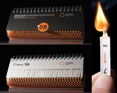 With this creative calendar you really burn a day off! :)