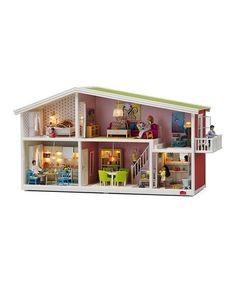 FINALLY. Dollhouses that aren't doused in pink and purple! This house has lots of room, and this sales event also has lots of furniture and decor available. (And a few other house styles.) Småland Doll House by Lundby $69.99 #kids #Christmas #gift #toys