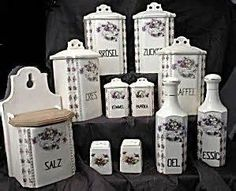 vintage german porcelain canisters - Yahoo Image Search Results