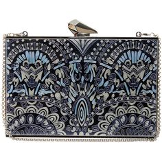 KOTUR Empire Merrick Clutch (1 345 BGN) ❤ liked on Polyvore featuring bags, handbags, clutches, purses, bolsas, evening purse, blue handbags, blue hand bag, man bag and blue purse