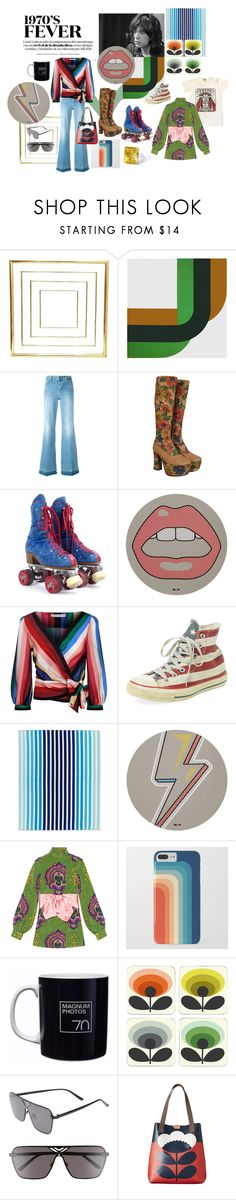 """70's fever"" by sarahhughes-net ❤ liked on Polyvore featuring Jagger, STELLA McCARTNEY, Seletti, Alice + Olivia, Converse, Lacoste, Gucci, Orla Kiely and BP."