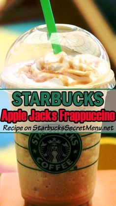 Starbucks Apple Jacks Frappuccino! Just like you used to have for breakfast. #StarbucksSecretMenu