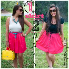 One skirt two very different ways to wear it!