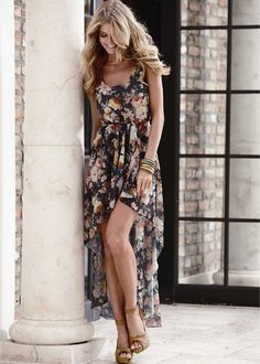 Floral print high low dress from VENUS women's swimwear and sexy clothing. Order Floral print high low dress for women from the online catalog or Hi Low Dresses, Cute Summer Dresses, Pretty Dresses, Beautiful Dresses, Short Dresses, Spring Dresses, Women's Dresses, Wedding Dresses, Sheer Floral Dress