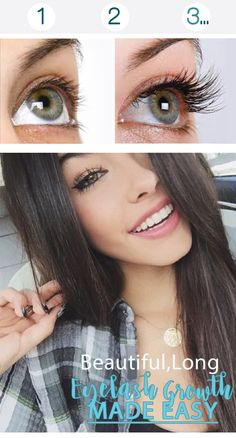 Grow long eyelashes for summer.