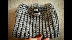 Bolsa de crochê com fio de maha