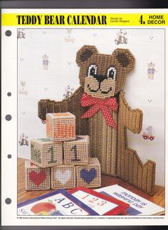 Teddy Bear Calendar 1/4