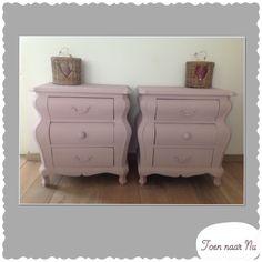 Brocante roze buikkastjes Made by toen-naar-nu