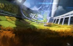 "Dennis Loebner, Futuristic Plantation spitpaint ""A late one for futuristic plantation. Prepared perspectives reference before i started. No time for stickman left. Gotta do a brush for that i guess :)"" https://www.facebook.com/photo.php?fbid=745152288828701&set=gm.1462116674006592&type=1"