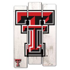 Texas Tech Red Raiders WinCraft x Fence Wood Sign Y… - Modern Raiders Fans, Texas Tech Red Raiders, Fence Signs, Wall Signs, Wrought Iron Fences, Old Art, Craft Activities, Metal Wall Art, Arts And Crafts