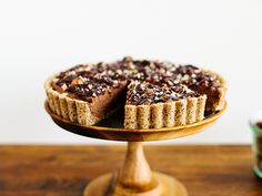 Chocolate-hazelnut tart with maple ganache + a giveaway | Oh, Ladycakes