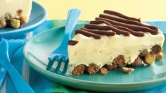 Peanut Butter-Fudge-Ice Cream Pie........This easy ice cream pie goes together fast with a playful and delicious cereal crust.