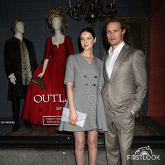 Pics of Outlander Cast and Crew at Saks Fifth Avenue Event
