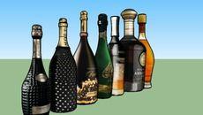 3D Model of bottles set 5