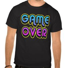 GAME OVER RETRO VIDEO GAME T SHIRT