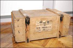 Drewniana Skrzynia Wojskowa Transportowa 105x60x40 - 5646886803 - oficjalne archiwum allegro