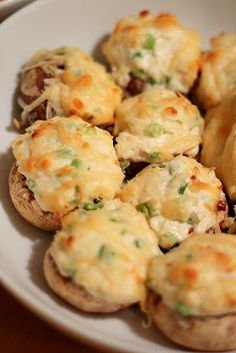 Cream Cheese Crab Stuffed Mushrooms