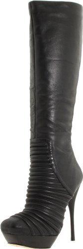 L.A.M.B #black #leather #boots #heels