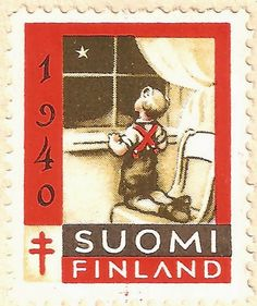 Näitä joulumerkkejä on myyty Suomen Tuberkuloosin Vastustamisyhdistyksen hyväksi. Tuberkuloosi oli Suomessa verraten yleinen sairaus 1950-lu... Scandinavian Countries, Vintage Stamps, Christmas Images, Norway, Nostalgia, My Favorite Things, Retro, Paper, Illustration