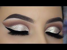 Champagne Gold Glitter Cutcrease Tutorial - YouTube