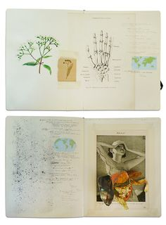 Rodrigo Arteaga - Sketchbook / art journal / collage / mixed media