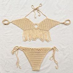 d245b476dc82 new 2016 womens swimwear sexy bikinis set swimsuit crochet bikini set  wrapped chest halter bathing suit handmade female biquini