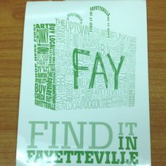 """Cool """"shop local"""" graphic from Fayetteville, Arkansas"""