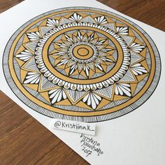 Mandala with golden details by KristiinaKaunisaho on DeviantArt