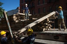 Salvaging Long Lasting Wood and New York City's Past.  New York is a five-borough safe deposit box for New England white pine and spruce, Pacific Northwest Douglas fir and, especially, Southern longleaf pine.