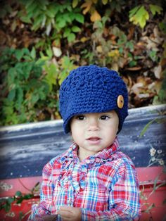 Gehaakt babymutsje kinderen hoed gehaakte muts door JuneBugBeanies