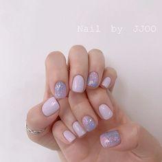 Cute Acrylic Nails, Cute Nails, Pretty Nails, Asian Nails, Lilac Nails, Kawaii Nails, Classic Nails, Nails Only, Minimalist Nails