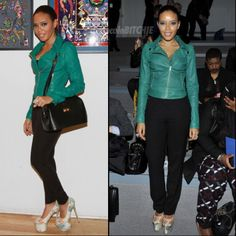 Angela Simmons in Olcay Gulsen. Drooling, I love these shoes. SO fun!