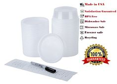 MnMHome 8 Oz Deli Container Wlids 12 Pack Package Includes 12 Freezer Labels and a Permanent Pen ** You can get additional details at the image link.