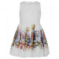 Party-ready dress for girls. Botanical print.