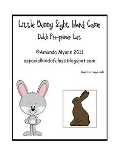 Free Little Bunny Sight Word Game