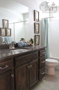 Guest Bathroom decorating idea and model home tour