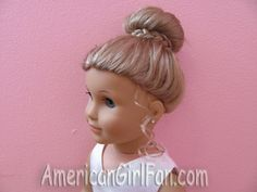 AG doll's hairstyles for Easter-Elizabeth's bun
