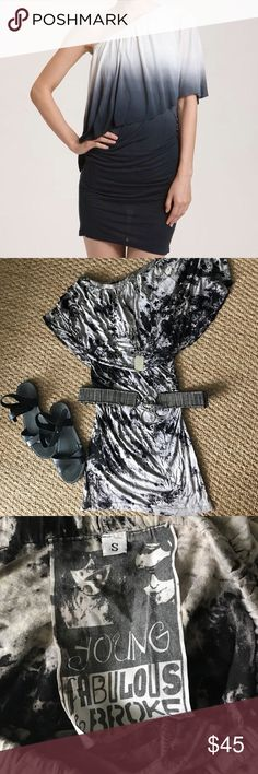 NWOT Young Fabulous & Broke Tye Dye Mini Dress Super cute mini dress by Young Fabulous & Broke. Ruched up the side, makes for a really flattering fit. A soft jersey dress to throw on during the day or for a night out! Dress it up with heels, or down with a pair of sandals. A must have for your summer wardrobe! First photo is shown for fit of dress. Young Fabulous & Broke Dresses Mini