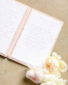 Pro-tip, hire a calligrapher to write you vows all pretty for you! Vow Book, Vows, Brides, Stationery, Weddings, Writing, Pretty, Inspiration, Instagram