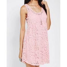 UO by Pins&Needles. Lace babydoll dress. New but with no price tags, never worn. Light pink color. Urban Outfitters Dresses Prom