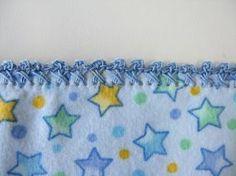 Crochet Borders Instructions for several crochet trimmings for fabric edges Crochet Quilt, Crochet Fabric, Love Crochet, Beautiful Crochet, Crochet Crafts, Easy Crochet, Fleece Blanket Edging, Baby Blanket Crochet, Crochet Baby