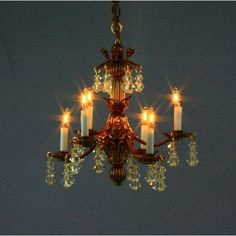 From furniture to glassware, from brass to glass, we are your on-line source for Artisan made dollhouse miniatures. Dollhouse Miniatures, Artisan, Chandelier, Table Lamp, Bronze, Ceiling Lights, Lighting, Scale, Glass