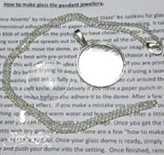 Jewellery Making Kit - Glass Dome Jewellery - Photo picture jewellery - Make your own necklace - Instructions - silver plated 1 inch round